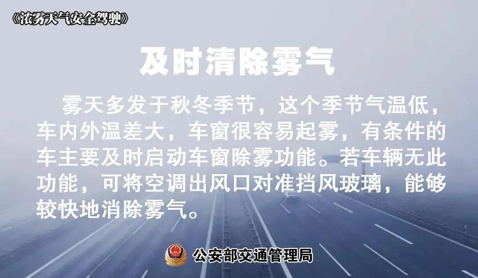 入秋多雾,雾天安全行车要赶紧学起来!